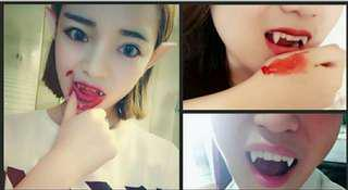 [ High Positive Rating ] Cosplay Fake Dentures Vampire Teeth Ghost Devil Fangs Costume Halloween Party Film And Television Props Zombie Teeth Fake teeth Halloween Party [V0003_56]