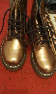 Bronze/brown metallic Doc Martens