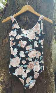 Floral One Piece Top No Manggas