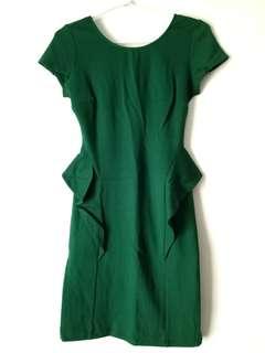 ZARA TRAFALUC green Dress