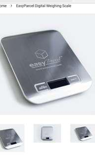 Electronic weightscale easyparcel