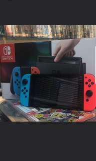 二手行貨紅藍色switch