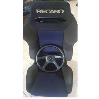 steering dan RECARO SEAT nak jual (sekali)
