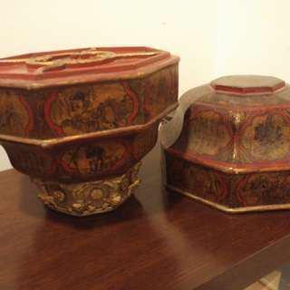 antique Taoist religious ceremony wooden box