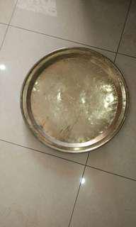 Antique Brass Round Tray (Dulang Tembaga)