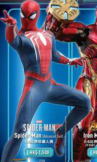 Hottoys Hot toys Spider-Man 蜘蛛俠 Advanced Suit 普通版 13/8單