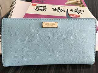 Kate Spade Wallet淺藍色(可少議)