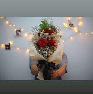 buket bunga edelweis