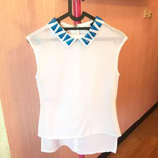 white blue top