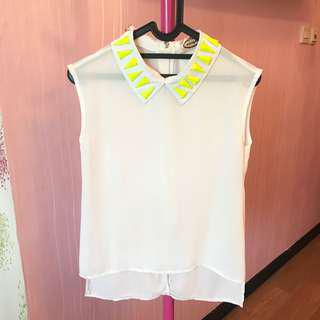 white yellow top