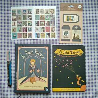 (Free Shipping) Le Petit Prince / The Little Prince VINTAGE STATIONERY SET