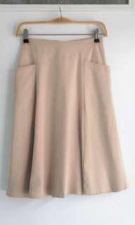 Korean A-line Khaki Skirt