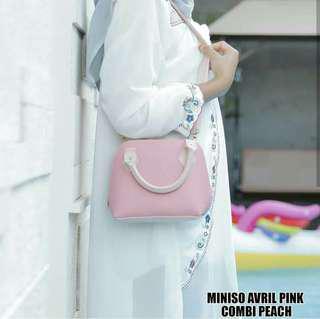 Sling bag miniso avril pink