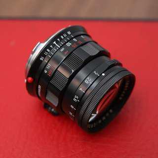 Leica 50mm 2.0 Summicron Rigid Black Repaint in Japan