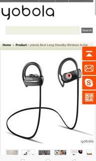 Yobola Bluetooth sports earphones