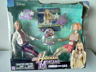 Hannah montana - Hana &  Lola 12吋套装公仔連傢俬