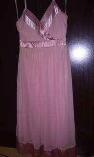 Old Rose Soft Tulle Dress