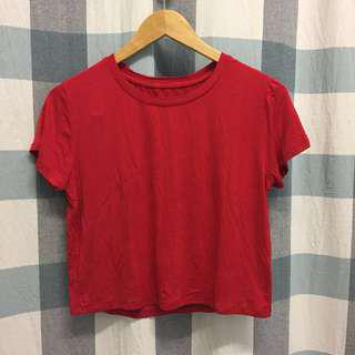 (NEW) Red Ultra Soft Cropped Tee