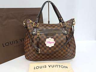 Authentic Louis Vuitton Damier Ebene Evora MM N41131 {{ Only for Sale }} ** No Trade ** {{ Fixed Price Non-Neg }} ** 定价 **