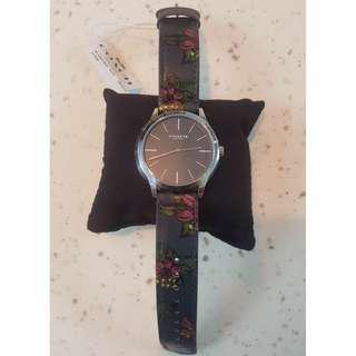 Coach Baxter W1555 Leather Strap Watch (Last pair) #CNYGA