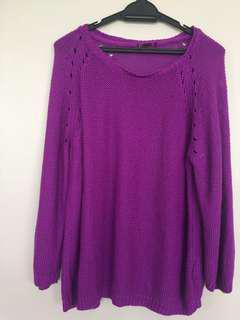 Oversized jumper/sweater (grape purple)