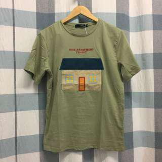 (NEW) Premium QualityGreen Embroidery Loose Tee