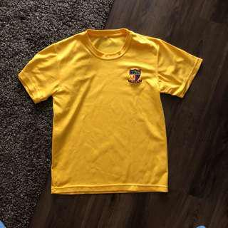 ACJC Yellow PE Dry Fit Tee Shirt