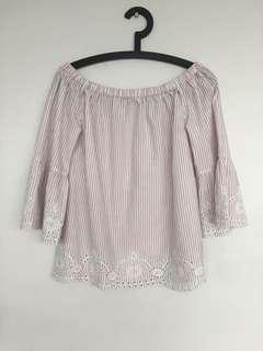 Dorothy Perkins off the shoulder blouse