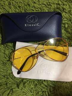 KlassiC-黃色鏡面墨鏡