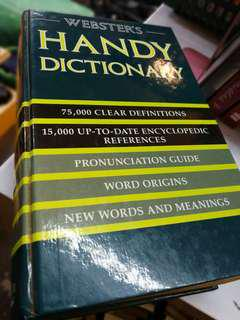 Webster's Handy Dictionary Thick Old Print England 1992 Journaling