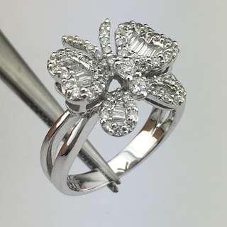 18K白金戒指 92份鑽石 18K Withe gold Ring 0.92ct Diamond