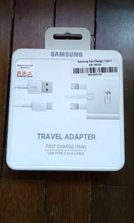 Original Malaysia Samsung Fast Charger Type C Travel Adapter