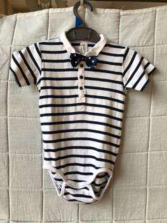 H&M onesie with bowtie (1.5-2yo)