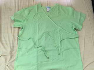 Green XL Scrubs Tie Back Top