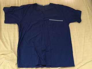 Blue Scrubs Top