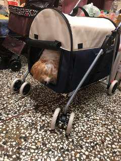 分離式寵物推車籃色