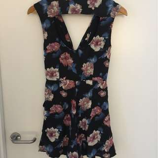 Flower Romper with cut out back