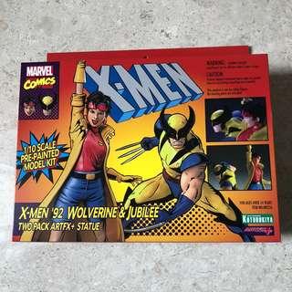 Artfx+ X-men 92' Wolverine and Jubilee