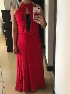 REPRICED Long Dress - Backless
