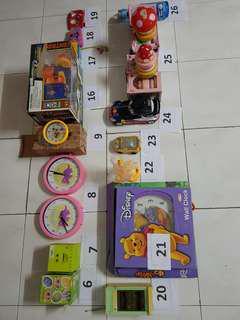 Koleksi Mainan FaceBook Wall Clock Winnie The Pooh, Snoopy, Radio, Camera, Radio Control Off Road, Citroen, Magical Drive, Cake Touch Lamp