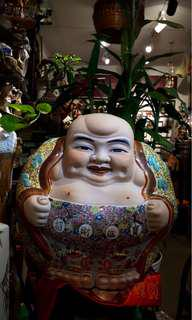 Prosperity Six Bats Big Laughing Buddha (招财进宝六蝠大笑佛)In excellent condition (全美)