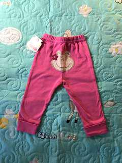 $7 - Sofy cotton Pinky frog Long pants for girls
