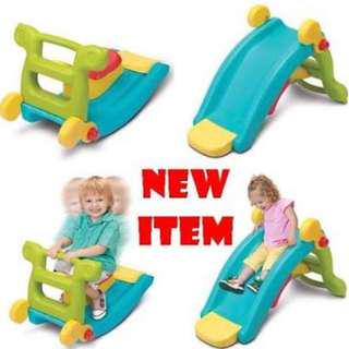 2 in 1 slide and rocking chair for kids