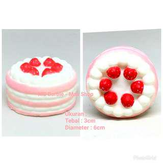 Squishy Kue Tart / Cake Tart Strawberry Kecil