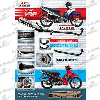 YAMAHA LAGENDA SRL115Z-FI / SRL110 / DEMAK DV110 STANDARD RACING EXHAUST (APIDO)