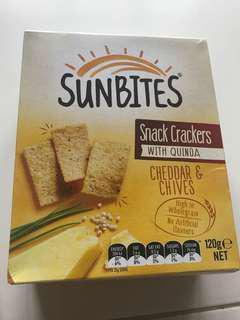 Sunbites snack crackers with quinoa