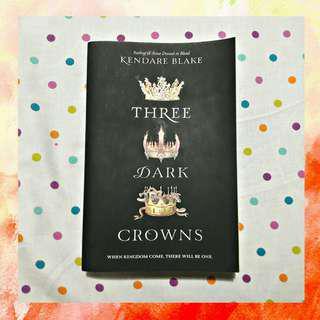 THREE DARK CROWNS - BOOK