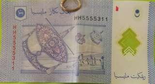 Nice number nombor cantik RM1 bank note rare