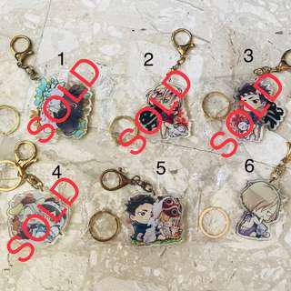 Minoru Joeling Keychains Set A
