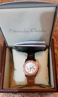 Alexandre Christie Woman Watch Rosegold Silver